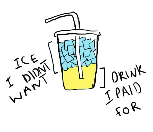 Drink Filled With Too Much Ice