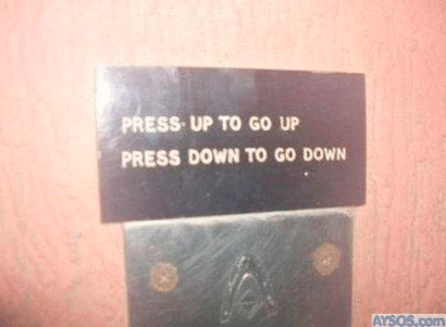 Funny Elevator Notes and Regulations