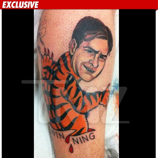 Winning with a Charlie Sheen Tattoo