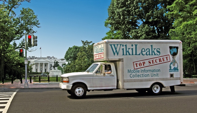 Wikileaks Truck at the White House