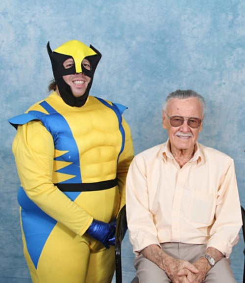 In Real Life: Wolverine with Stan Lee