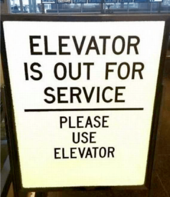 Some Funny and Slightly Crazy Elevator Notes and Regulations