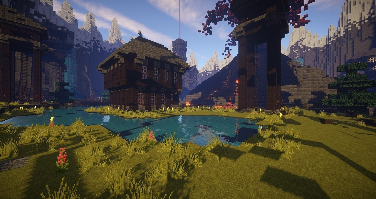 Screenshot of a game called Minecraft